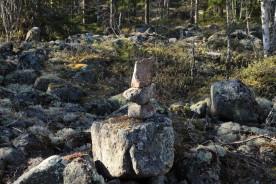 Dessa stenar lade jag upp en gång, de överlever vintrar