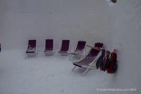 Solen lyste med sin frånvaro och stolarna samlade mest snö