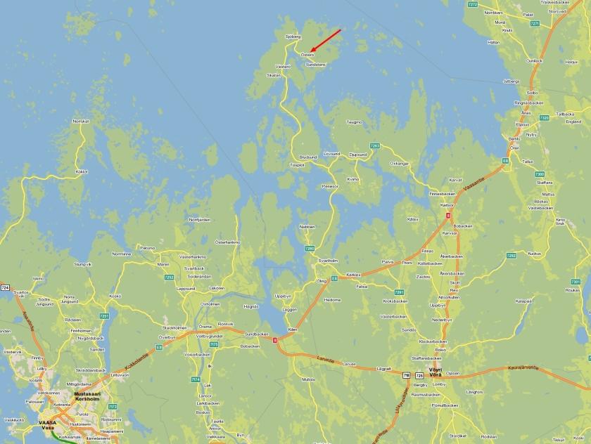 karta till österö